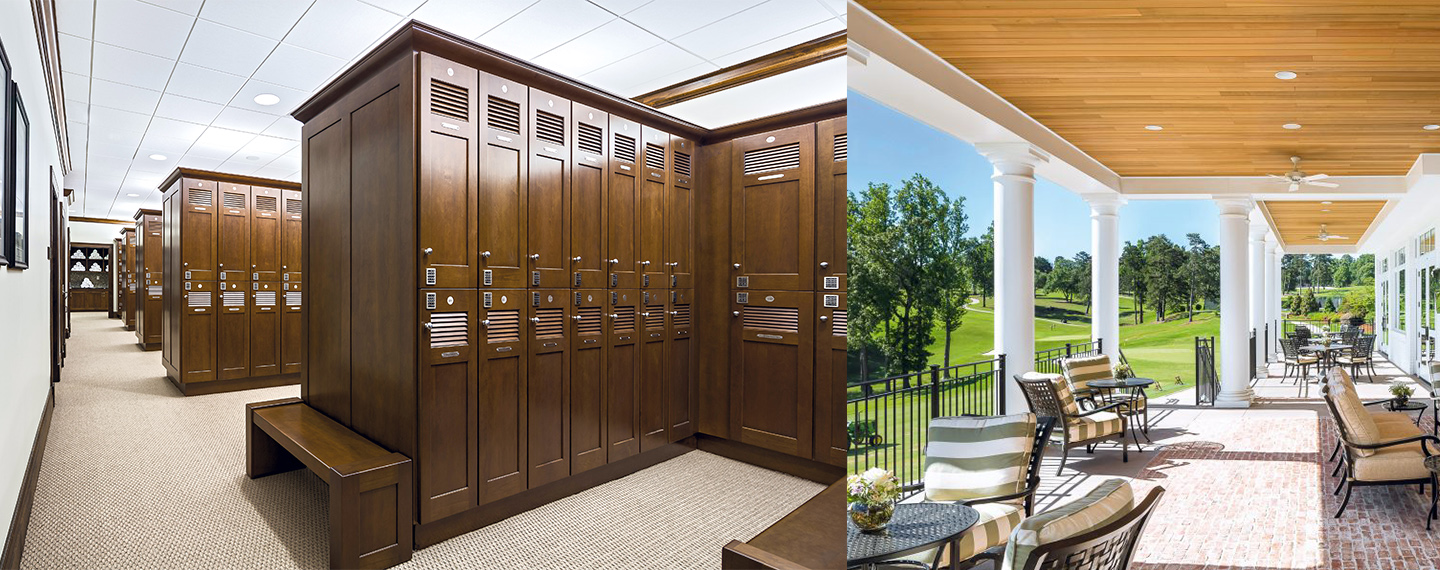 Greenville Country Club Locker Room with Aspire Locks Installed