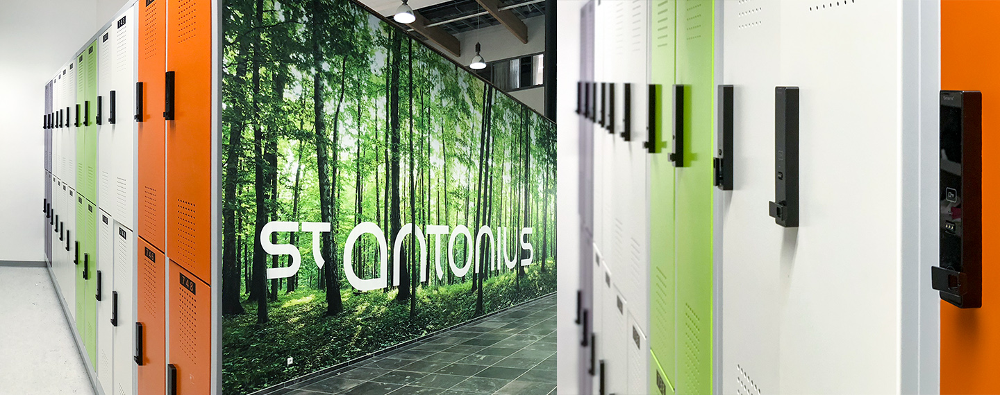 St. Antonius Lockers Secured with Versa RFID