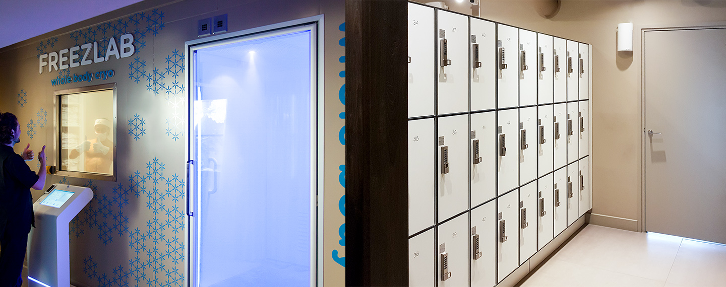 Versa Electronic Locks Installed in the Freezlab Cryogenics Locker Room