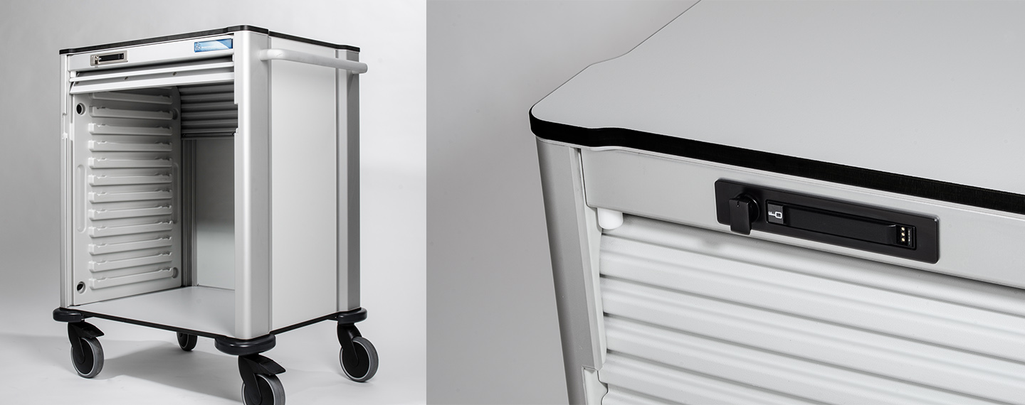 Distribution Systems International Medical Cart Secured with Horizontal Body Versa Mini RFID