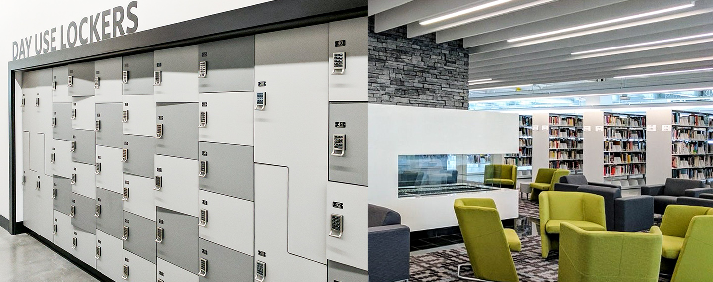 Day Use Lockers Secured with Cue by Digilock at Mount Royal State University