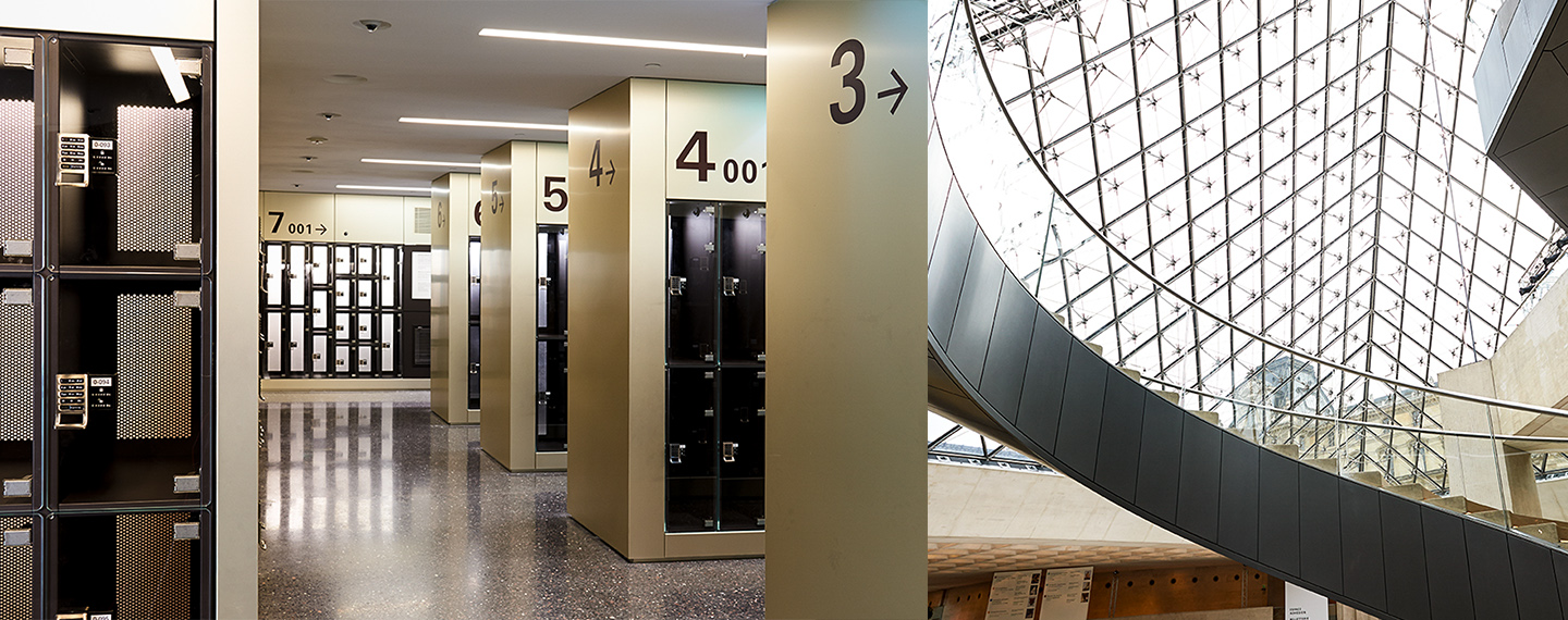 Digilock 4G Electronic Locks Securing Lockers at Le Louvre