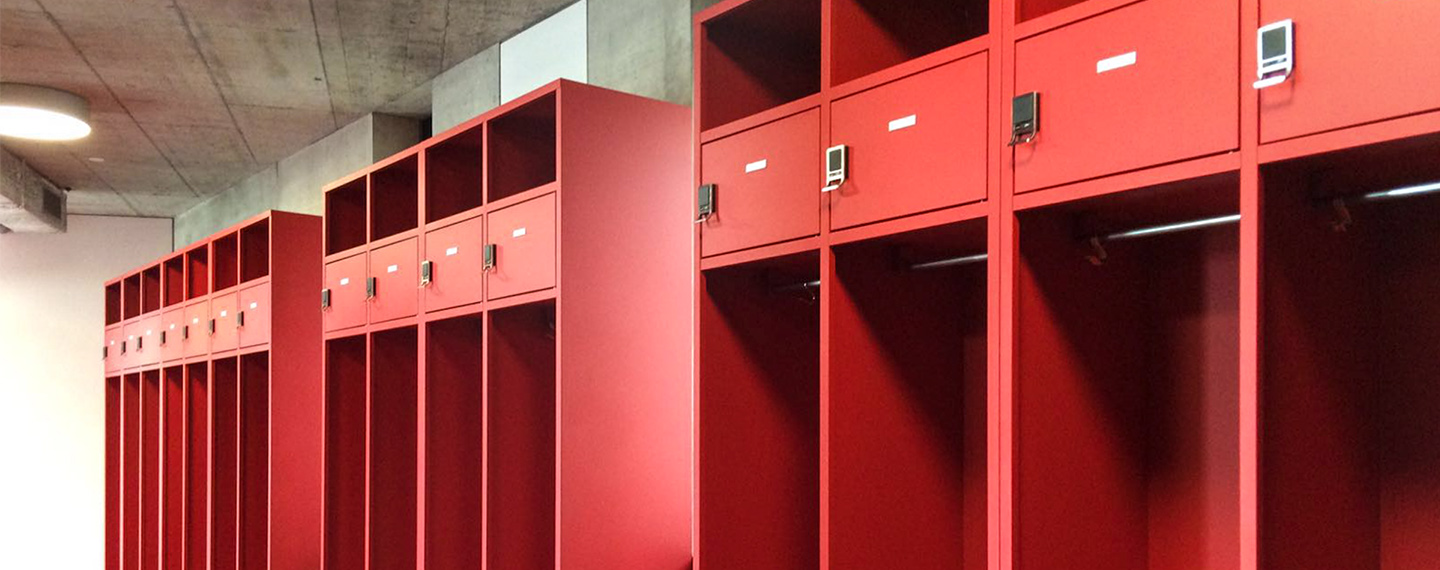 Fire Station Employee Lockers with Digilock 4G Electronic Locks Installed