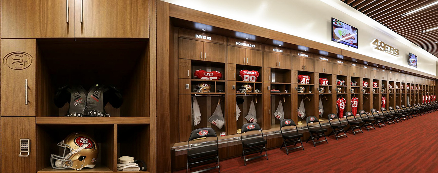 San Francisco 49ers Athlete Locker Room Secured with Digilock 4G Locks
